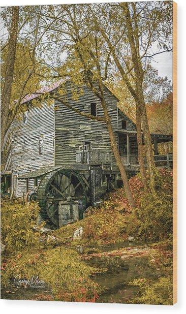 Parks Grist Mill Wood Print