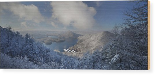 Parksville Lake Snowy Overlook Wood Print