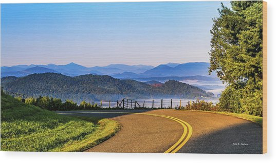 Parkway Morning Vista Wood Print