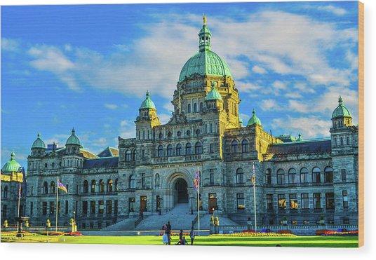 Parliament Victoria Bc Wood Print