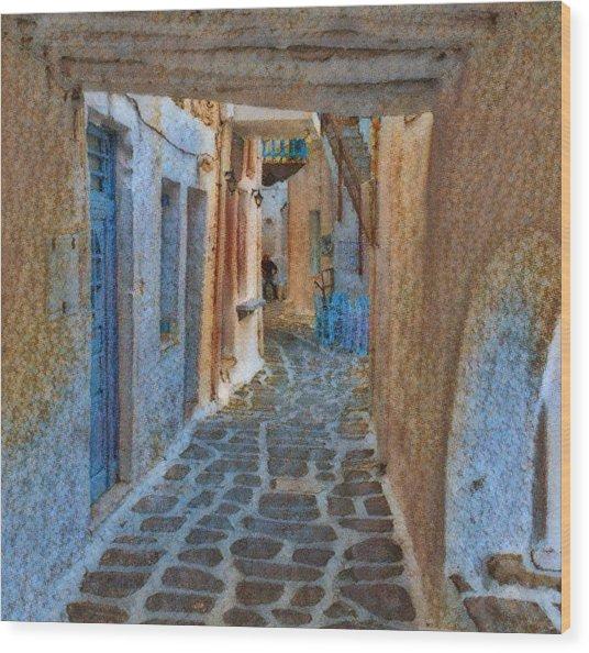 Paros Beauty Island Greece  Wood Print