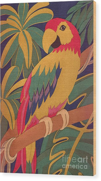 Parrot Wood Print by Lucyna A M Green
