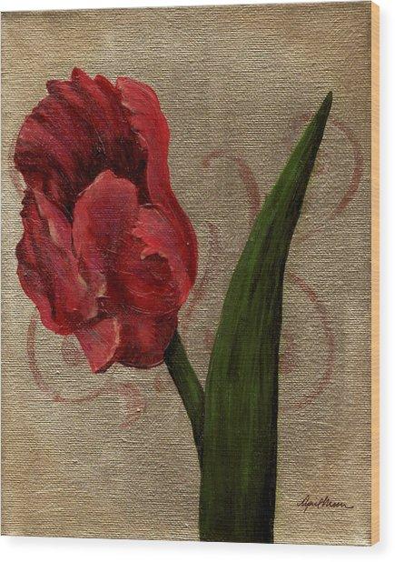 Parrot Tulip I Wood Print
