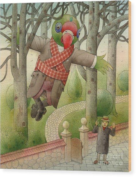 Parrots 01 Wood Print by Kestutis Kasparavicius