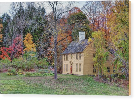 Parson Barnard House In Autumn Wood Print