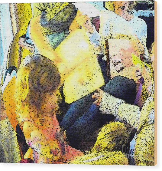 Party Overload Wood Print by JoAnn SkyWatcher