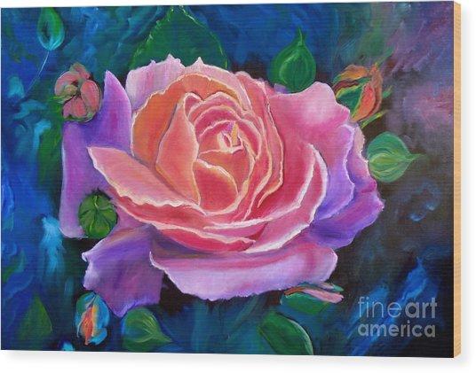 Gala Rose Wood Print