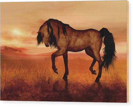 Wood Print featuring the painting Paso Fino by Valerie Anne Kelly