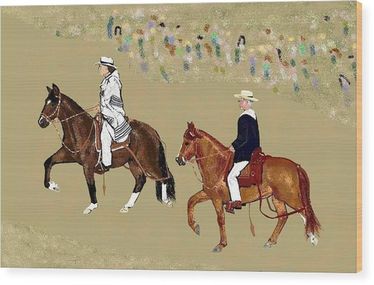 Pasos On Parade Wood Print by Carole Boyd