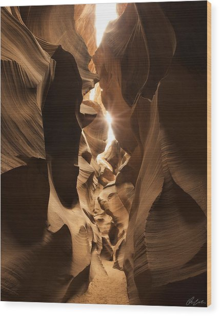 Passage At Antelope Canyon Wood Print