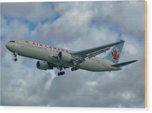 Passenger Jet Plane Wood Print