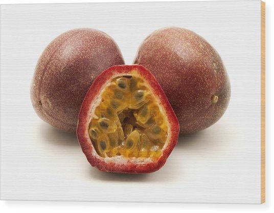 Passion Fruits Wood Print