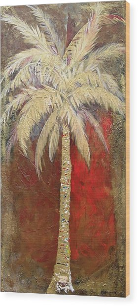 Passion Palm Wood Print