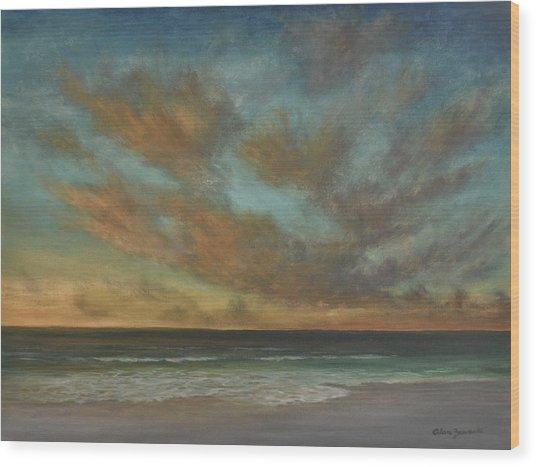 Passionate Sky By Alan Zawacki Wood Print