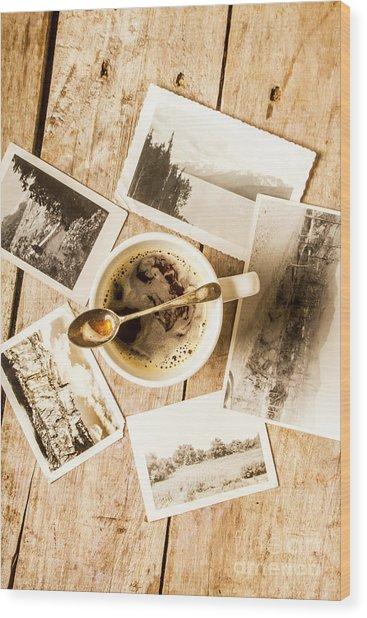 Past Time Tea Wood Print