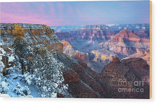 Pastel Canyon Wood Print