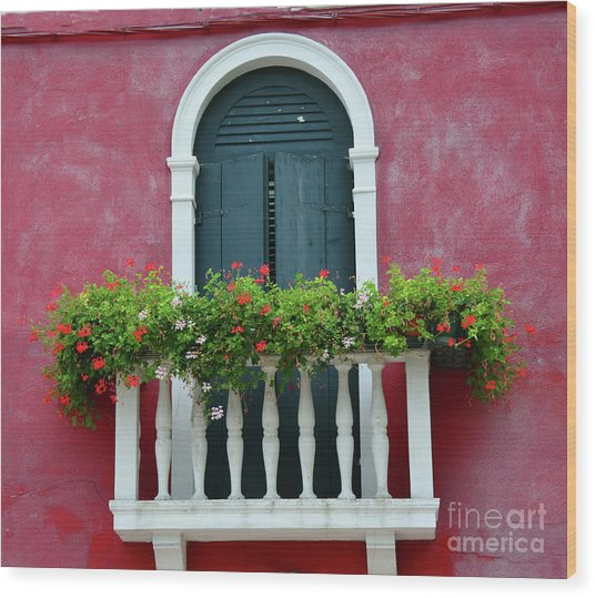 Pastel Colors Of Burano  Wood Print