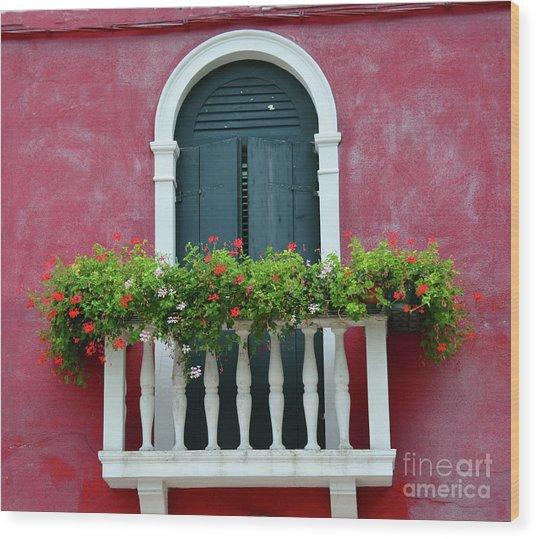 Pastel Colors Of Burano  Wood Print