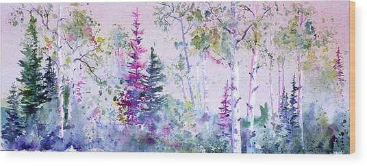 Pastel Forest Wood Print