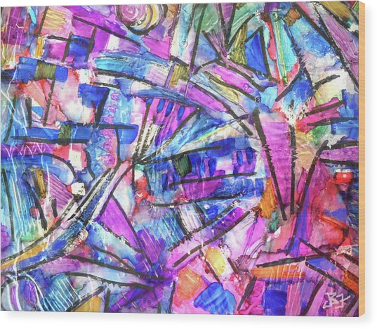 Pastel Kaleidoscope Wood Print