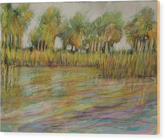 Pastel Palms Wood Print by Michele Hollister - for Nancy Asbell