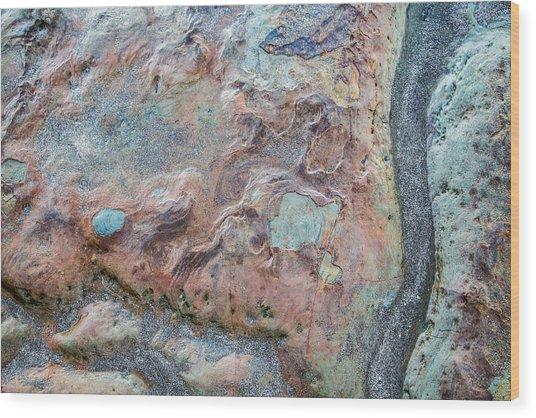 Pastel Rock Patterns Wood Print