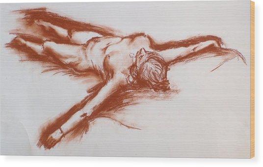 Pastel Sketch 11.2010 Wood Print
