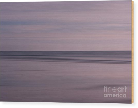 Pastel Sunrise Wood Print by Michelle Stevens