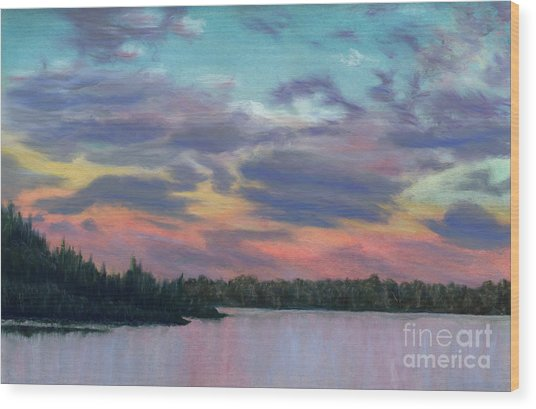 Pastel Sunset Wood Print