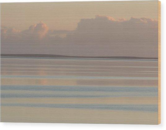 Pastel Sunset Sea Original Wood Print by Tony Brown
