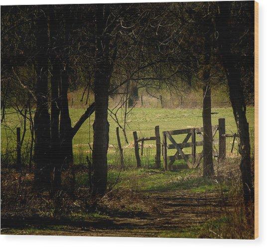 Pastor Gate  Wood Print