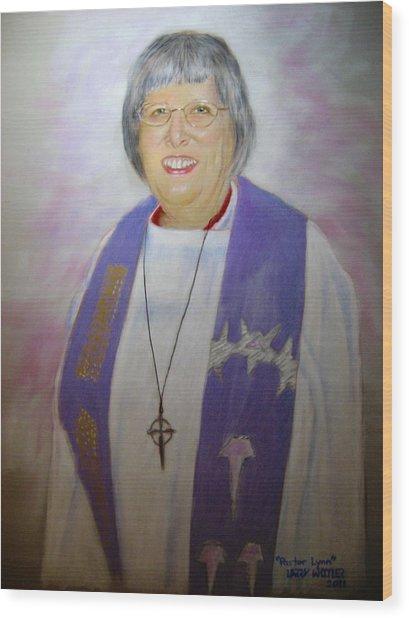 Pastor Lynn Wood Print by Larry Whitler