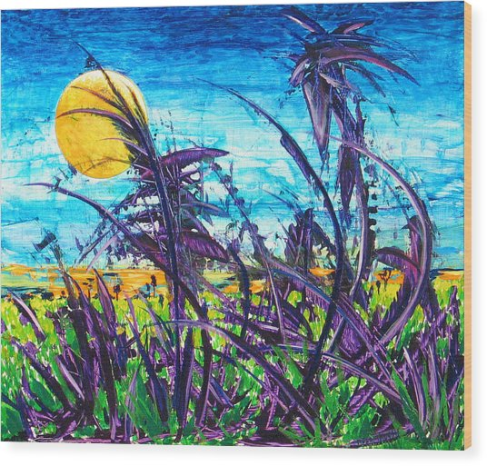 Patch Of Field Grass Wood Print by Rollin Kocsis