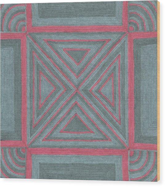 Patchwork Wood Print
