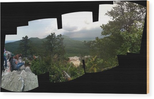 Patchwork View Wood Print