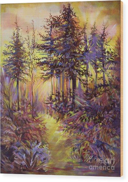 Path Of Illusions Wood Print