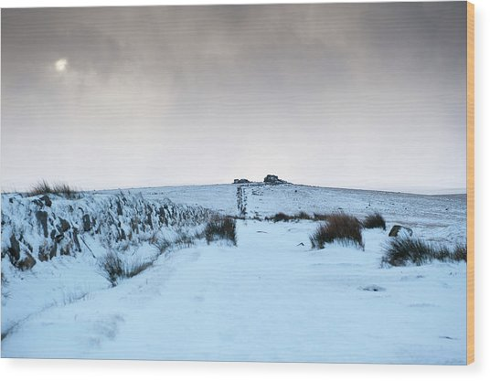 Path To South Hessary Tor II Wood Print