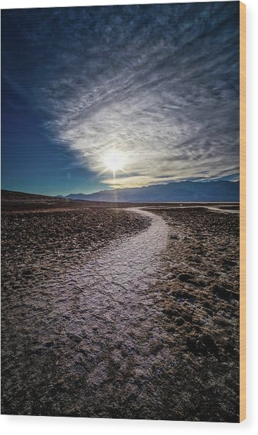 Pathway To Death Valley  Wood Print by Bryan Moore