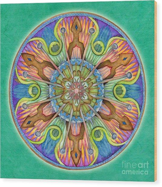 Patience Mandala Wood Print
