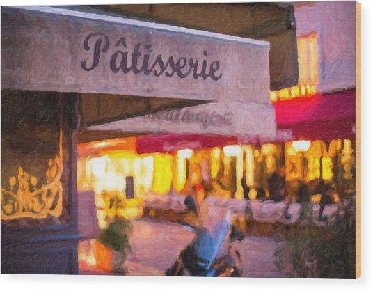 Patisserie - Paris Art Print Wood Print