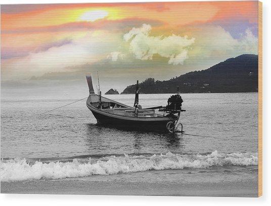 Patong Beach Wood Print