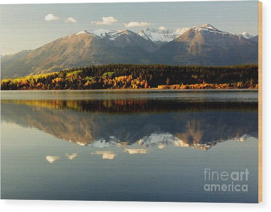 Patricia Lake Wood Print by Frank Townsley