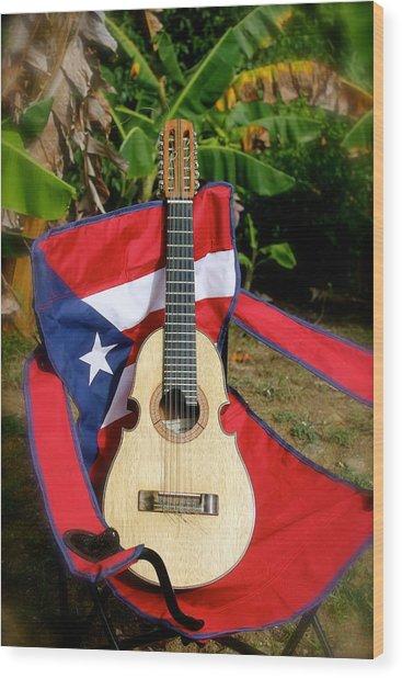 Patriotic Cuatro Wood Print