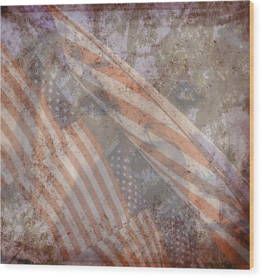 Patriotic Lab Wood Print