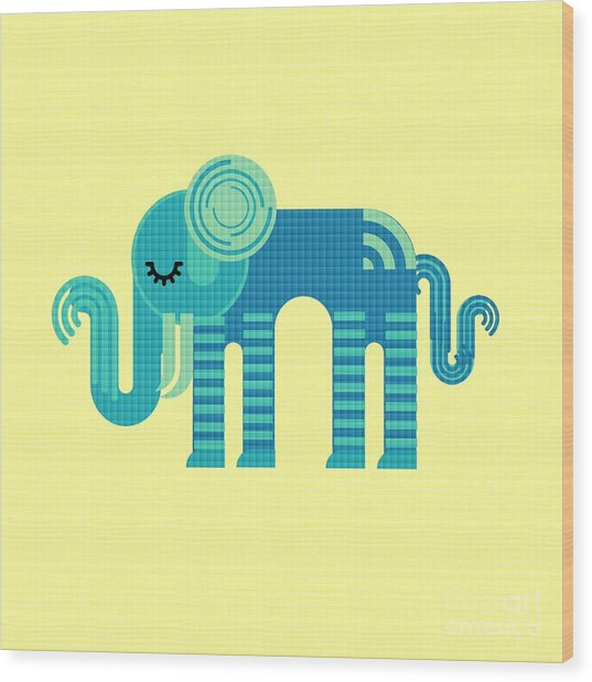 Pattern Elephant Wood Print