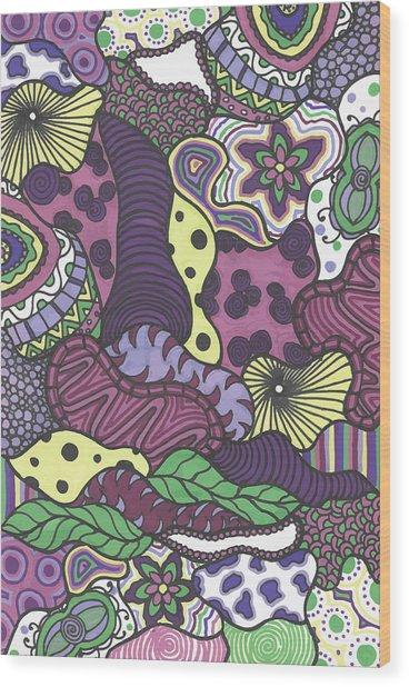 Pattern Jungle Wood Print