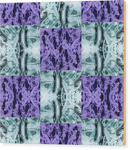 Ultra Violet  And Water  Wood Print