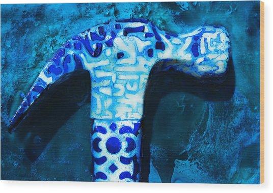 Patterned Hammer Wood Print