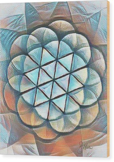 Patterns Of Life Wood Print
