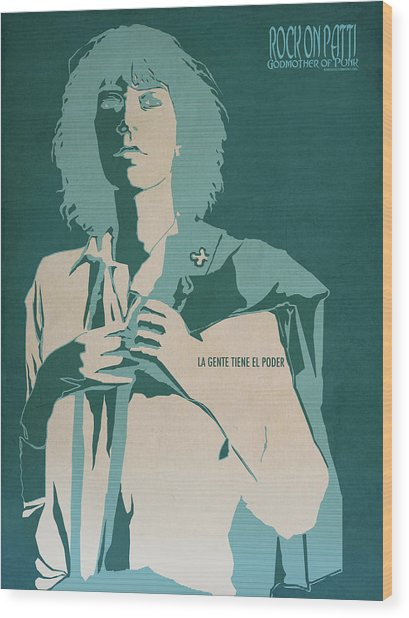 Patti Smith Wood Print